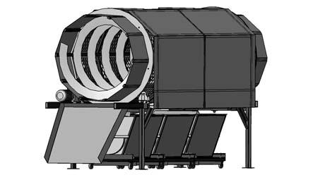 Грохот барабанный сепаратор